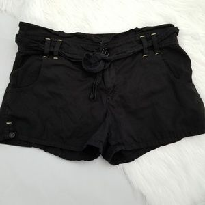 Sanctuary black shorts tie waist s